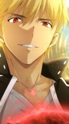 i_321950 armor blood emiya_shirou fate_stay_night fate_stay_night_unlimited_blade_works gilgamesh_(fsn) kizawa_kayo saber sword torn_clothes