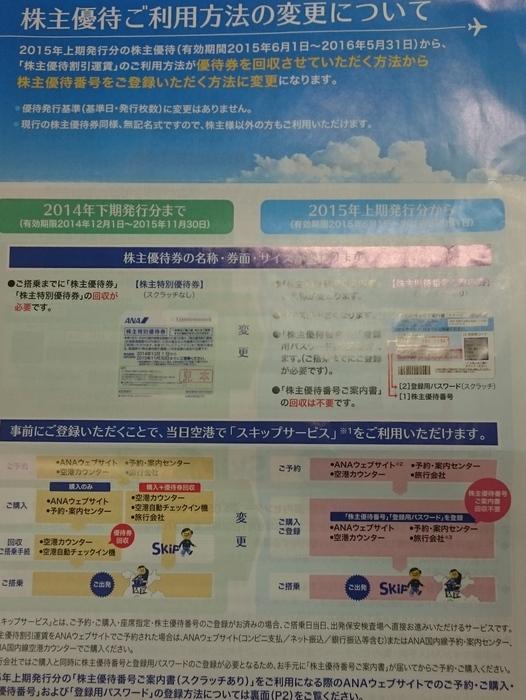 1-201505優待券の使用方法変更