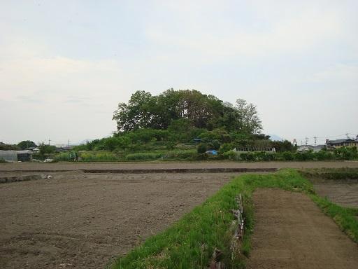 浅間山古墳後円部の状況