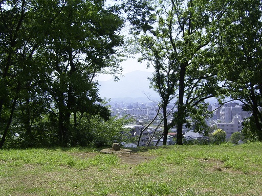 瓢塚古墳墳頂からの景色