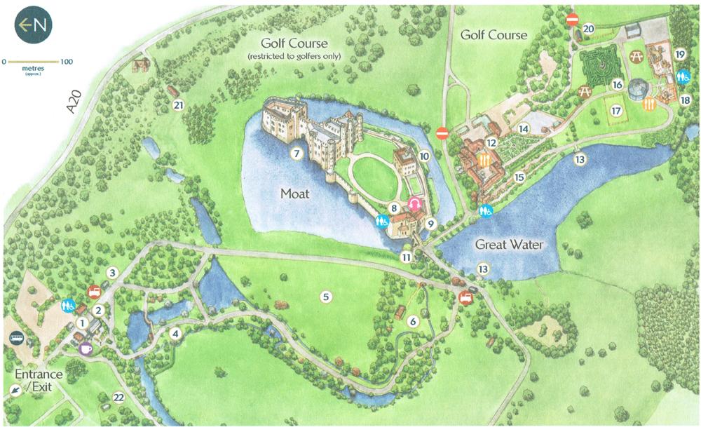 リーズ城地図