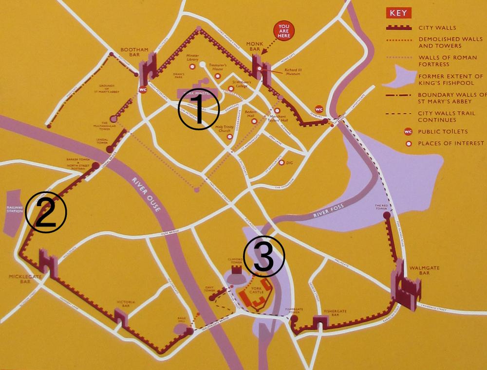 ヨーク城地図