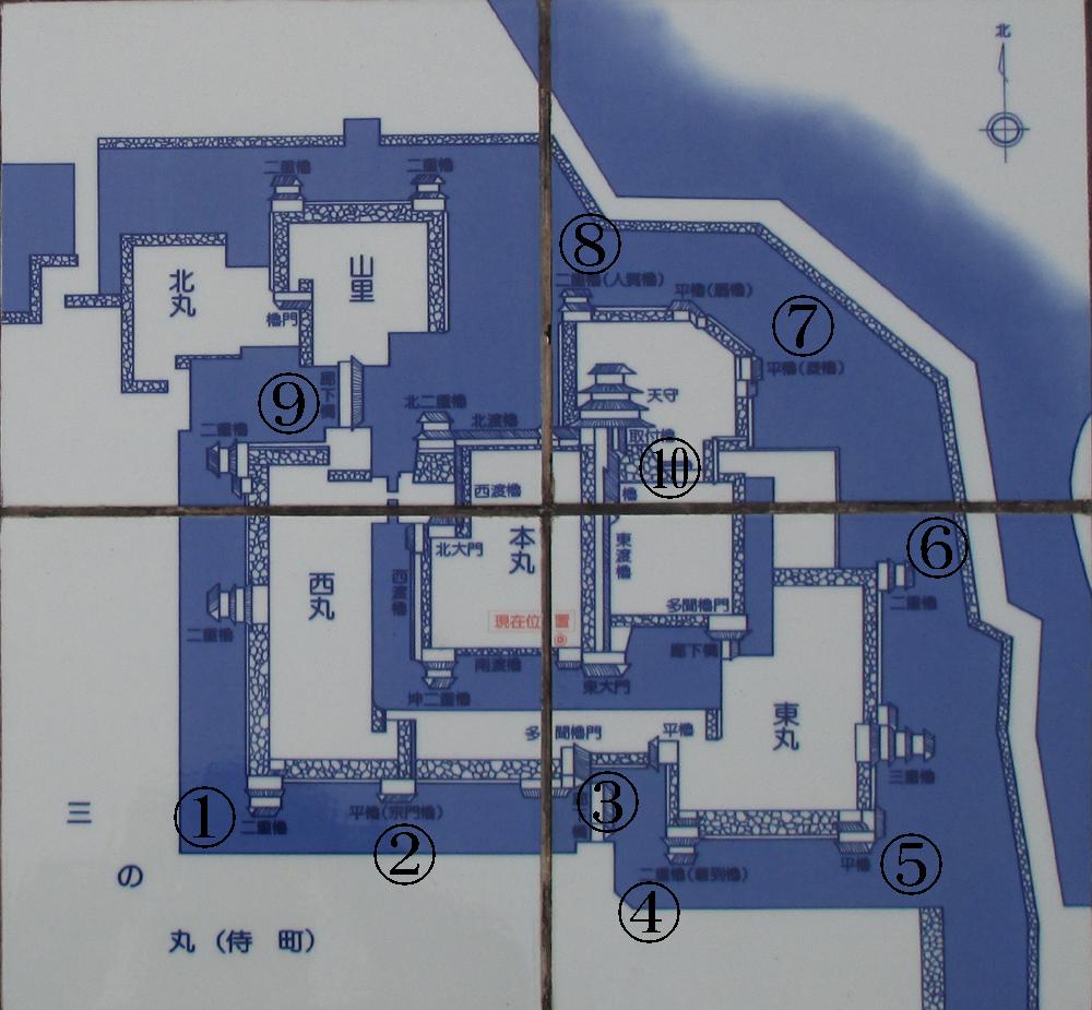 大分府内城復元図