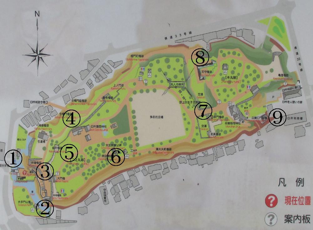 臼杵城地図1