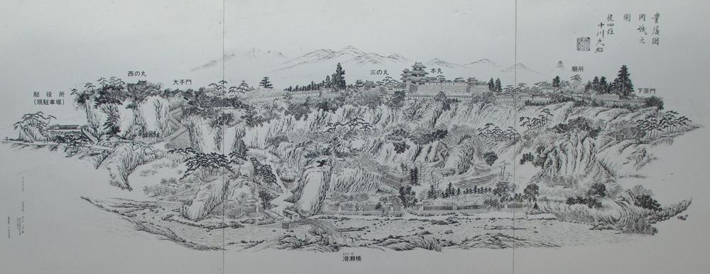 岡城復元図