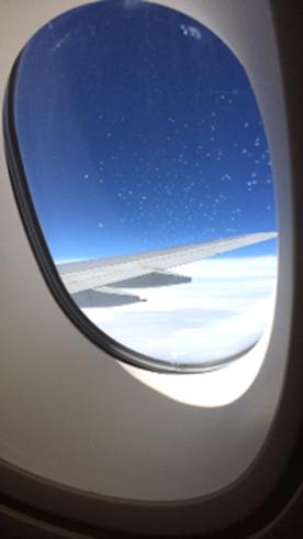 飛行機中11