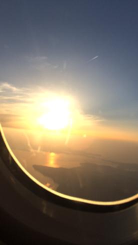飛行機中5