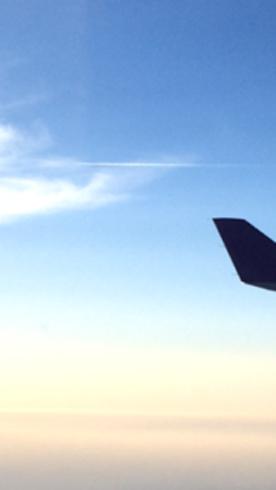 飛行機中4