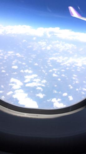 飛行機中2