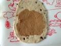 黒糖レーズンのきな粉クリームパン 手順3