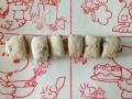 黒糖レーズンのきな粉クリームパン 手順4
