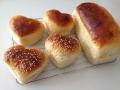 ハート型バンズとパウンド型パン 手順6