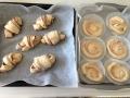 折り込みシート使用 ココアロールパン・いちごミルク渦巻きパン 手順10