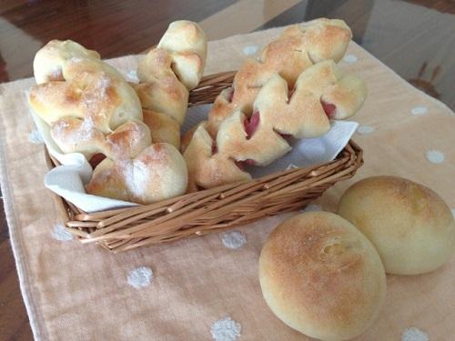 フランスパン3種(ウインナー・ハム・チーズ)