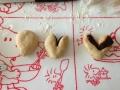 黒糖あんパン ハート型・お花型 手順2