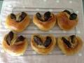 黒糖あんパン ハート型・お花型 手順6