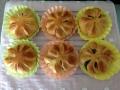 黒糖あんパン ハート型・お花型 手順7