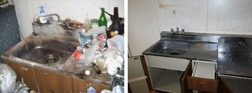ごみ屋敷キッチン掃除
