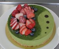 U06抹茶のヨーグルトレアチーズケーキ