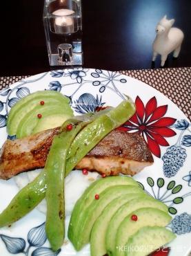 鮭のムニエルと生七味ペペロン4