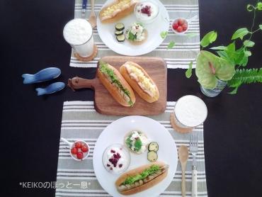 ホットドックのパンでサンドイッチ2