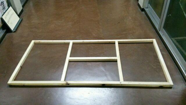 角材の枠の補強