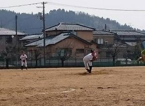 3月22日 練習試合 加茂高校にて