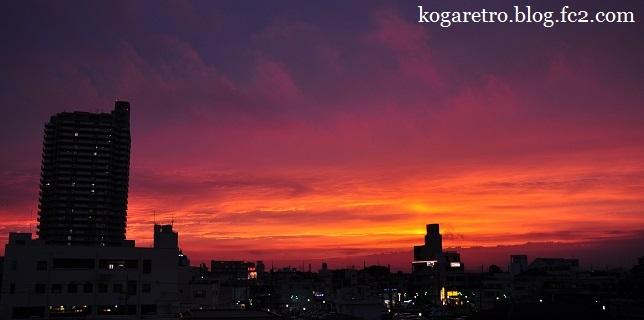古河市の夕焼け