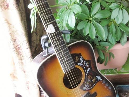 リビングの飾りになっていたギター