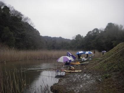 亀山ヤッカラ前の釣り風景