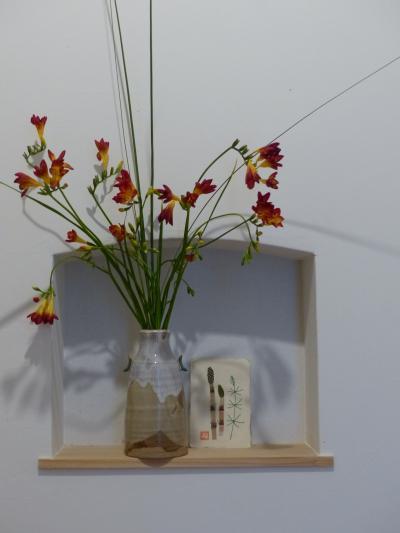 玄関の花 フリージア