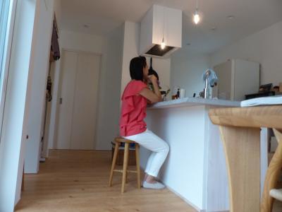 わが家のキッチン 次男撮影
