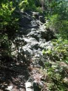 立岩を登る