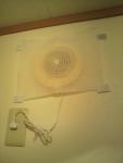 トイレの換気扇にクイックルワイパー