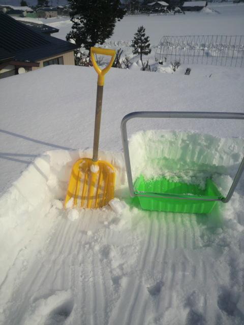 2014年12月28日雪下ろし1