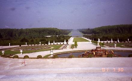 7月29日ベルサイユ宮殿、アポロンの泉と大運河