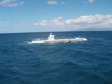 潜水艦にのたがあまり魚はいなかった
