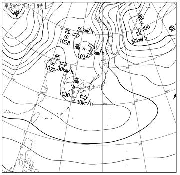天気図 14121509