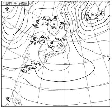 天気図 14121515