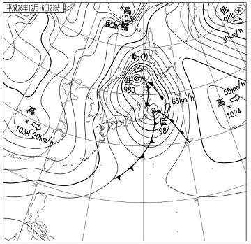 天気図 14121621