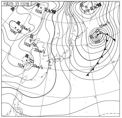 天気図 15010121