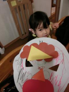 プレ幼稚園31回目 鬼のお面
