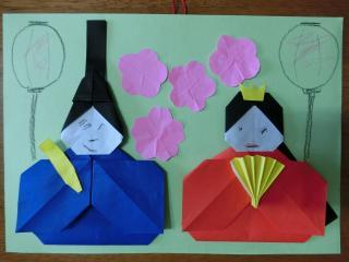 折り紙の雛飾り