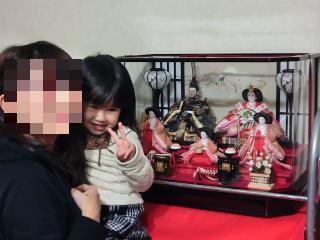 3歳の雛祭り写真