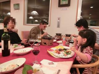 山中湖宿泊時の夕食
