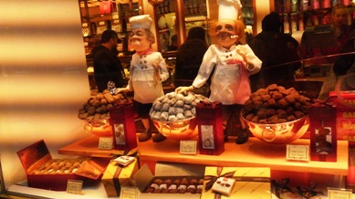 ブリュッセルのチョコ店