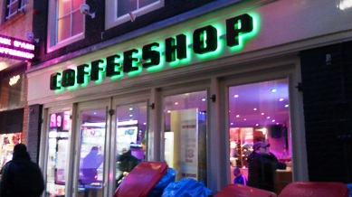 アムステルダムのコーヒーショップ