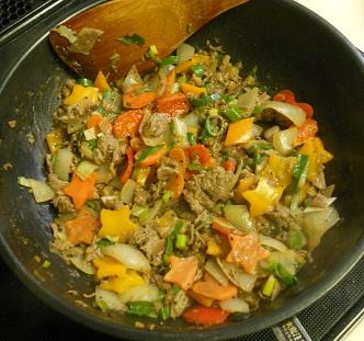 牛肉と宝石野菜チャーハン9