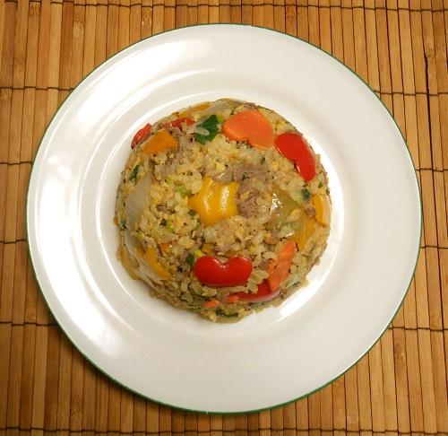 牛肉と宝石野菜チャーハン11