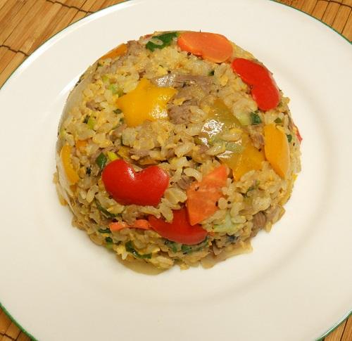 牛肉と宝石野菜チャーハン12